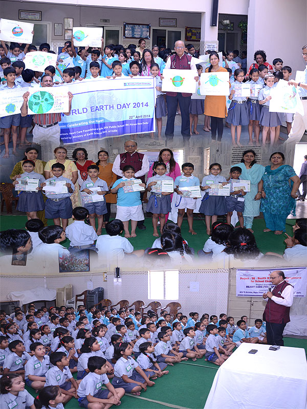 slogan writing and poster making competition were organized on the topic save our earth where the winners were awarded cash prize